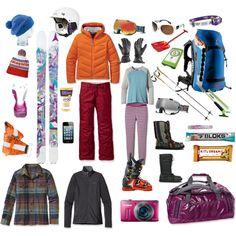 "Hit the slopes in style thanks to ""Caroline's Ski Kit"" by pro-skier, funky fashionista and Sanuk friend @Caroline Gleich - via #Polyvore"