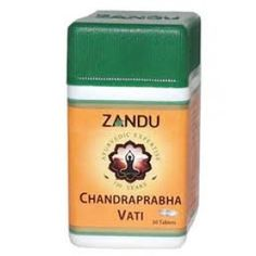 Zandu Chandraprabha Vati is a wonderful remedy for urinary tract disorders and diabetes.Useful in Albuminuria, Phosphaturia, Gout, Gonorrhoea, Renal Calculi, Chicken Pox, Herpes, Lumbago Pruritus Vulva, Fever