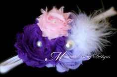 Purple and Pink Headband / Purple and Pink by ManaiaBabyDesigns, $6.50