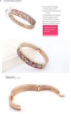 Bracelet Femmes – Swarovski Elément multicolore – Plaqué or rose – Diamètre intérieur: 5,5 cm x 4,5 cm - See more at: http://bijoux.florentt.com/jewelry/bracelets/bracelet-femmes-swarovski-elment-multicolore-plaqu-or-rose-diamtre-intrieur-55-cm-x-45-cm-fr/#sthash.0ADGfWMl.dpuf