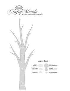 Crafty Moods - Free craft and lifestyle projects resource for all ages: Another DIY Tree Wall Decal-FREE Down-loadable Template!!
