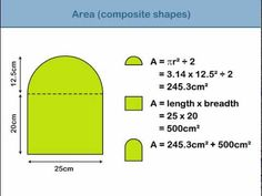 Area of composite shapes        Repinned by Chesapeake College Adult Ed. We offer free classes on the Eastern Shore of MD to help you earn your GED - H.S. Diploma or Learn English (ESL).  www.Chesapeake.edu