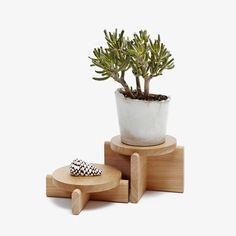 Wooden Pedestal Set
