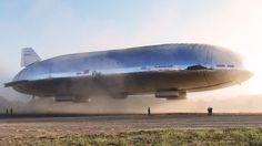 A ride on  the Aeroscraft!!!! The Aluminum Airship of the Future Has Finally Flown.