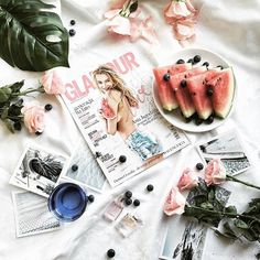 Perfect afternoon with watermelon and magazines  Sawed from https://www.instagram.com/wild.rocks/