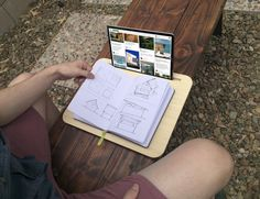 Working with tablets will become easy and comfortable if you have the Tab LapDesk for Tablets & SmartPhones by iSkelter.