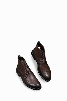 Dress Boots In Matte Dark Brown