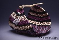 Purple Passion Antler Magazine Basket