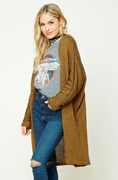 Everything We're Buying From Forever 21 Right Now #refinery29 http://www.refinery29.com/forever-21-best-winter-clothing#slide-14 Forever 21 Contemporary Longline Cardigan, $19.90, available at Forever 21....