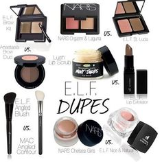 """Cosmetics dupes will help you save tons of money while still looking fabulous! Check these out """"Drugstore Dupes"""" ~ Happy Shopping! Bb Beauty, Beauty Dupes, Just Beauty, All Things Beauty, Beauty Makeup, Beauty Hacks, Hair Beauty, Fashion Beauty, Perfect Makeup"""