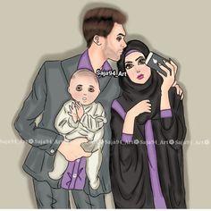 kumpulan kartun romantis parf 2 - my ely Black Couple Art, Cute Couple Art, Cute Couples, Muslim Family, Muslim Girls, Muslim Couples, Cute Girl Drawing, Cute Drawings, Cartoon Pics