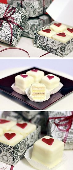 Valentine Petits Fours | DIY Valentine Gifts for Him | DIY Valentine Gifts for Boyfriend