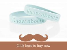 #Movember - Click Here to Buy Blue Know About it - Prostate Cancer Charity Awareness Wristbands #menshealth