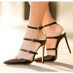 Women's Style Pumps and D'orsay Heels Fall Fashion Prom Shoes Black Pointy Toe Sexy Stiletto Heels Buckles Strappy Pumps For Work Valentines Day Outfits For Women Summer Bucket List Ideas Chic Fashion Party Outfit Street Style Outfit Sweater Coat Outfit 2018, Party, Date, Anniversary, Going Out | FSJ