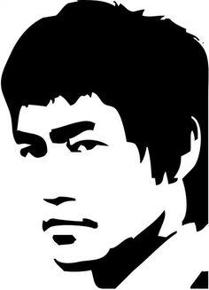 Risultati immagini per bruce lee stencil art Black And White Drawing, Black Art, Bruce Lee Art, Pop Art, Silhouette Clip Art, Scroll Saw Patterns, Stencil Art, Pyrography, Art Drawings