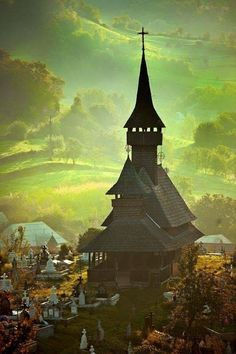 XVII wooden church,Maramures Romania, UNESCO Heritage Site, Considered the last truly bucolic region in Europe. Places To Travel, Places To See, Europe Centrale, Visit Romania, Romania Travel, Voyage Europe, Old Churches, Place Of Worship, Kirchen