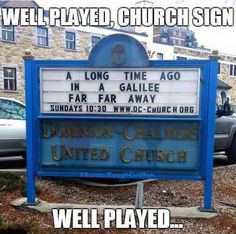 Well played Church sign, well played