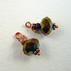 Sharilyn Miller: FREE Tutorial: Wire-Wrapped Bead Dangles