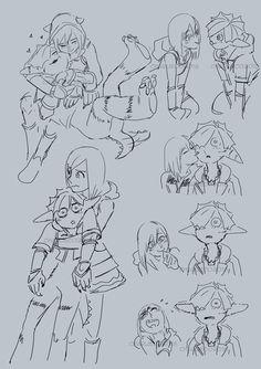 "chachacharlieco: """"Sokai Week Day 4 & Monster and Mecha "" "" Fantasy, Sketches, Final Fantasy, Kingdom Hearts Art, Kingdom Hearts Funny, Mystical Creatures, Cute Art, Anime, Fan Art"