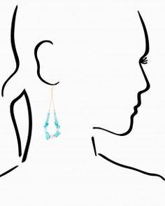 Mica Stone Dangle Earrings