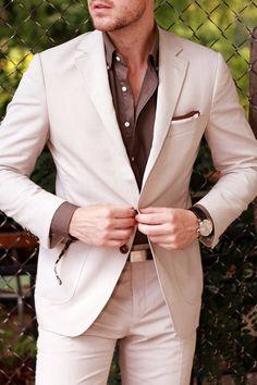 #Beige can #work all year round. #colors #beigestyle #totalbeige #beigeinmen #beigemen #allinbeige #totallook #lookinbeige #beigeoutfit #looks #beigelooks #menswear #beigesuit #suit #elegantmen #gentleman #cutesuit #greatoutfit #fashionmen #totalmen #men #outfitformen #fashionformen #menstyle #menoutfit #JohnNhoj