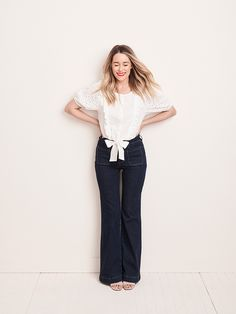 The official site of Lauren Conrad is a VIP Pass. Here you will get insider knowledge on the latest beauty and fashion trends from Lauren Conrad. Lauren Conrad Collection, One Shoulder Tops, Spring Looks, Ruffle Skirt, Flare Pants, Lc Lauren Conrad, Bell Bottom Jeans, Feminine, Style Inspiration