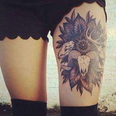 Animal skull tattoo //