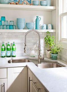 Eine bessere Eckspüle-Küche tolle Idee-Wasserhahn küche