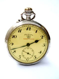 Antiguo Reloj Bolsillo Suizo F. BACHSCHMID Patent por shopvintage1