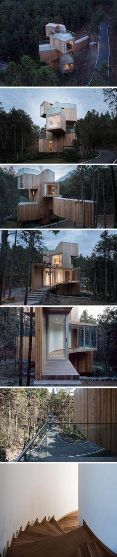 Qiyunshan Tree House Hotel by Bengo Studio.