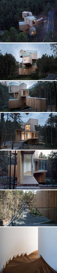 Qiyunshan Tree House Hotel by Bengo Studio.