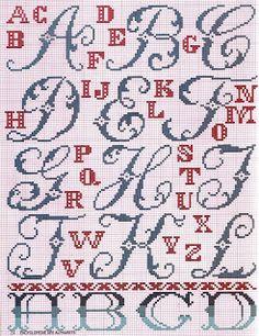 ♥Meus Gráficos De Ponto Cruz♥: Enciclopédia de Alfabetos 1