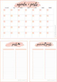 Inserts Planner 2017 para Download - Blog Organizer.
