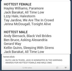 But isn't anyone going to talk about the fact that they didn't put MCR next to Gerard's name
