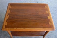 Vintage Mid Century Modern Danish Style End Table Side