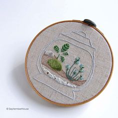 Embroidery Pattern Happy Houseplants embroidery by SeptemberHouse