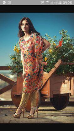 Pakistani Colourful Poncho with cigarette pant Pakistani Formal Dresses, Pakistani Bridal Wear, Indian Dresses, Indian Outfits, India Fashion, Muslim Fashion, Asian Fashion, Western Girl Outfits, Women's Fashion Dresses
