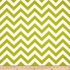 """Premier Prints Sheeting Zig Zag Village Green from @fabricdotcom%0A%0AThis light weight sheeting fabric is screen printed on 100% cotton and 44"""" wide. It's perfect for apparel, quilting, crafts and home décor accents. Colors include citrine green and natural."""