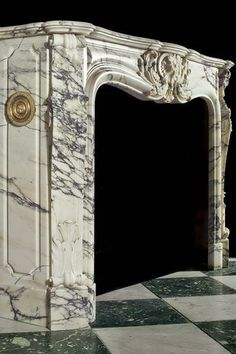 Antique Marble French fireplace Mantel | Orange County | California