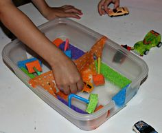 GREAT idea! Toddler Playtime: Make a DIY Toy Carwash!
