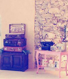 Urne valise // Livre d'or machine à écrire