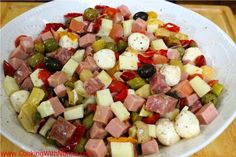 What is a holiday without a tasty Italian Antipasto Salad. Italian Antipasto, Italian Salad, Appetizer Recipes, Salad Recipes, Appetizers, Soup Recipes, Italian Dishes, Italian Recipes, Italian Cooking