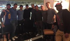 San Jose Sharks attend a Warriors game at The Tank 10.08.2016