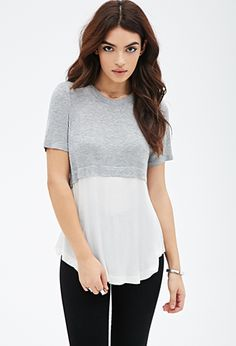 Colorblocked Layered Tee | FOREVER21 - 2000054987 - http://AmericasMall.com/categories/juniors-teens.html