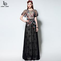 Women's Half Sleeve Vintage Floral Embroidered Black Lace Long Dress Like and Share if you agree! http://www.skaclothes.com/product/high-quality-2016-runway-bodycon-sheath-maxi-party-dresses-womens-half-sleeve-vintage-floral-embroidered-black-lace-long-dress #shop #beauty #Woman's fashion #Products