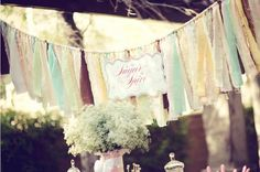 lovely garland idea for an outside party.