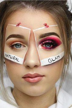 Halloween Gesicht, Beautiful Halloween Makeup, Make Up Braut, Creative Makeup Looks, Unique Makeup, Awesome Makeup, Perfect Makeup, Halloween Makeup Looks, Halloween Nails