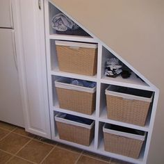 laundry room storage under stairs | | FollowPics