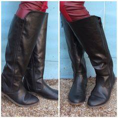 Tall black boots - http://frontporchboutique.com