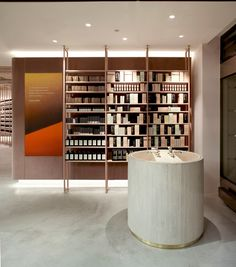 Aesop can celebrate its first signature store opening in Munich. The store impresses through its interior and packaging design likewise. Pharmacy Design, Retail Design, Commercial Design, Commercial Interiors, Window Display Retail, Retail Displays, Shop Displays, Window Displays, Aesop Store